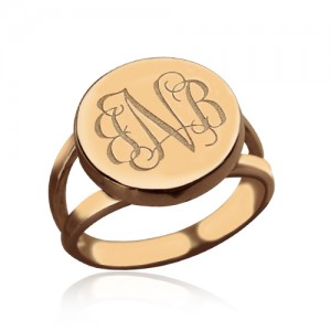 Personalised Circle Signet Monogram Ring - Custom Made By Yaffie™
