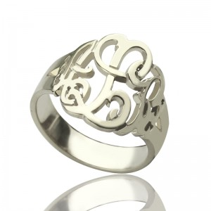 Personalised Hand Drawing Monogrammed Ring - Custom Made By Yaffie™