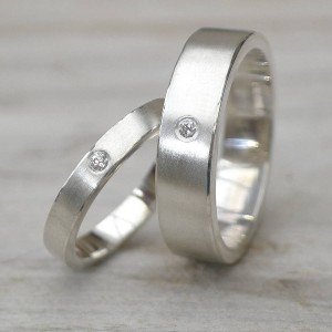 Personalised His And Hers Wedding Rings - Custom Made By Yaffie™