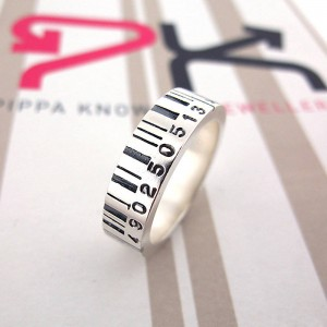 Personalised Medium Barcode Ring - Custom Made By Yaffie™