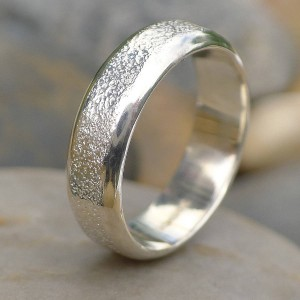 Personalised Mens Ring With Concrete Texture - Custom Made By Yaffie™