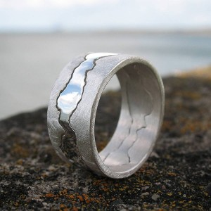 Personalised Double Coastline Ring - Custom Made By Yaffie™