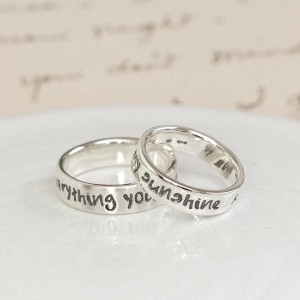 Personalised Script Ring - Custom Made By Yaffie™