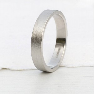 Personalised Wedding Ring With Spun Silk Finish - Custom Made By Yaffie™