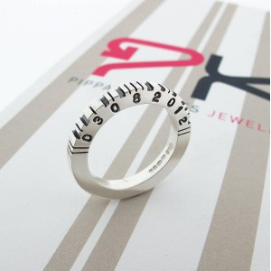Personalised Thick Square Barcode Ring - Custom Made By Yaffie™