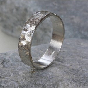 Personalised Handmade Unisex Textured Band Ring - Custom Made By Yaffie™